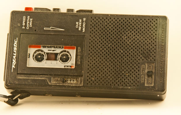 A cassette recorder. Not a recorder that records a cassette, but ... oh, never mind.