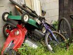 yard waste-lawn mower