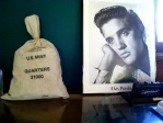 A Bass Lake school board meeting this week was brief. From left, money bag; photo of Elvis Presley (deceased).