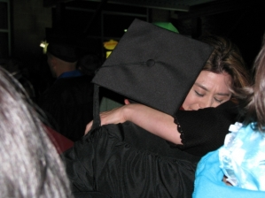 commencement hug