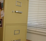 Example of a file cabinet, not the one stolen from town hall. (File cabinet photo)