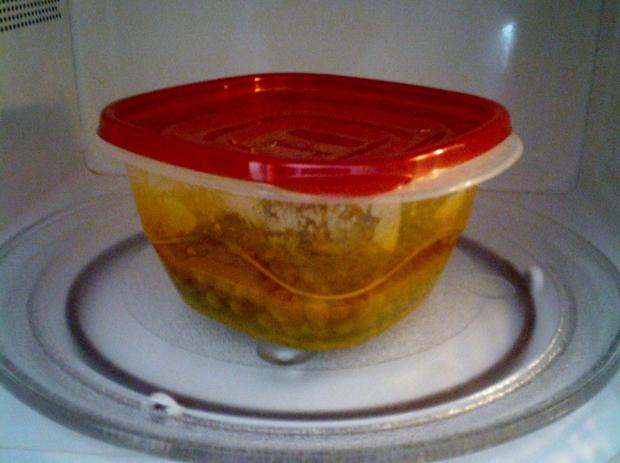 Microwave peas