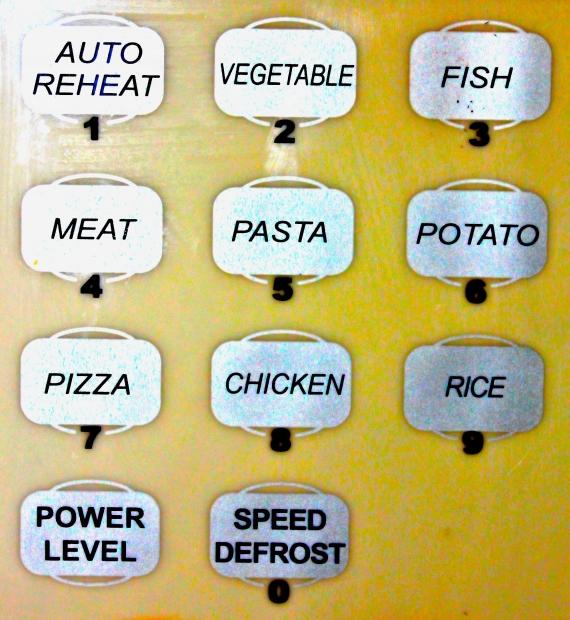 Microwave preset